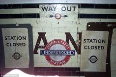 Abandoned: Down Street underground station which closed in May 1932. The nearest stations to it are Hyde Park Corner and Green Park