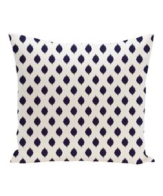 Look at this Navy Cop-Ikat Geometric Throw Pillow on #zulily today!
