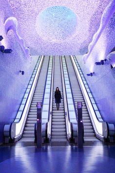 Naples underground metro art #italy