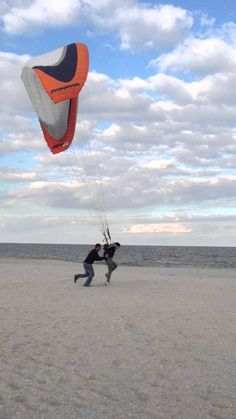 Week 1 of Powered Paragliding training, you must first control the wing from the ground (kiting) this massive workout gets you ready for the skies.