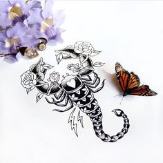 Scorpion practice, ghosts of beauty and treasures from Couple Tattoos, Leg Tattoos, Body Art Tattoos, Small Tattoos, Tattoo Scorpion, Henna, Scorpio Zodiac Tattoos, Infected Tattoo, Tattoo Fonts
