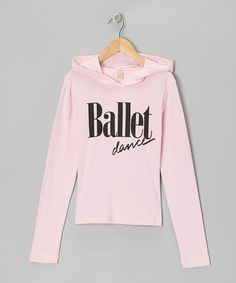 Take a look at this Baby Pink Ballet Dance Hoodie - Girls by Dancewearables on #zulily today!