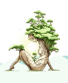 Bonsai Tree Tattoo Drawing | Displaying 19> Images For - Bonsai Sketch...