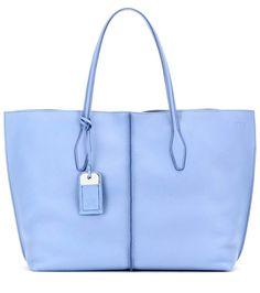 Joy Large light blue leather shopper