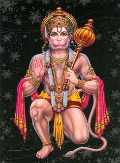 Hanuman - Great Devotee of Lord Rama (Reprint on Paper - Unframed))