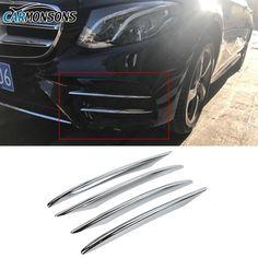 Aluminium Roof Makeup mirror Frame cover Chrome trim For Benz W212 E Class 2010+