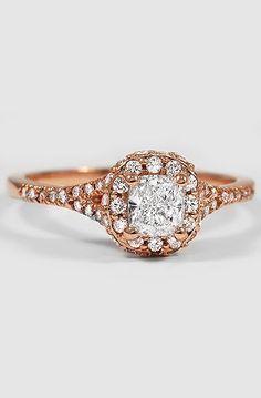 14K Rose Gold Circa Diamond Ring