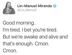 Thank you, Lin. This literally pulled me out of bed. 😊