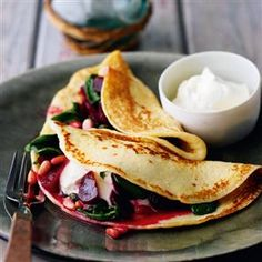 Potato pancakes with spiced beetroot