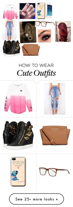 """My dream outfit tonight"" by emirahusetovic on Polyvore featuring Giuseppe Zanotti, Victoria's Secret, Oliver Peoples, Lauren Conrad, MICHAEL Michael Kors, women's clothing, women, female, woman and misses"