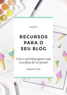 Crie o seu blog: lista de recursos http://sernaiotto.com/2016/01/12/recursos-no-sernaiotto/