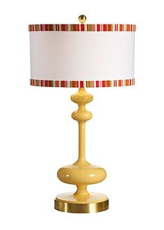 MIRABELLA LAMP in BUTTERCUP  Available through The Lamp Shade.   www.thelampshade.com