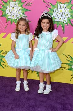 Nickelodeon's 26th Annual Kids' Choice Awards - Arrivals - Rosie McClelland ans Sophia Grace Brownlee