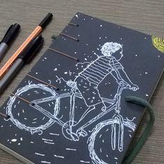 nº 10 - encadernação carlos bressan; ilustração paulo de medeiros.   http://minimodiario.com.br/galeria/  #livro #menino #bicicleta