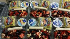 Autumn fruit and yogurt salad today. Photo from @APS_ATS @SchoolMealsRock @APSVirginia #vegetarian #healthy