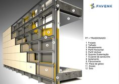 FAVENK :: fachada ventilada :: Brick Cladding, Exterior Cladding, Steel Frame House, Steel House, Container House Plans, Container House Design, Prefab Homes, Modular Homes, Building Systems
