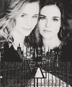 Blood Sisters fan art featuring Lucy Fry and Zoey Deutch as Lissa and Rose.