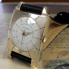 1950s Longines Wittnauer Vintage  watch, 14k Solid Gold, 17J Fancy Case Swiss