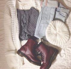 maroon combat boots