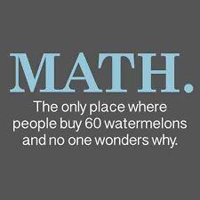 Math Watermelons Funny Quality T SHIRT College Geek Nerd Math Humor Novelty Tee