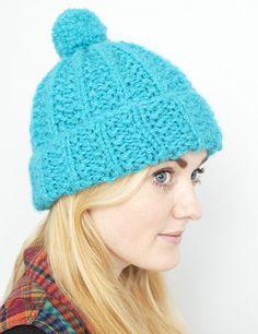 Moss Stitch Rib Hat - Debbie Bliss - Designer Yarns, Patterns, Books, and More