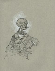 """omercifulheaves: """"Art by Mike Mignola """" Mike Mignola Art, Mouse Sketch, Character Art, Character Design, Dog Artist, Animation Sketches, Man Sketch, Nature Sketch, Bd Comics"""