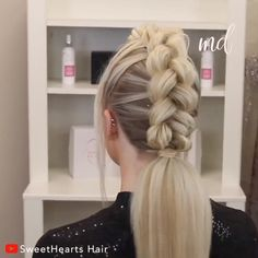 Two braids in one that never crossed my mind! Braided Mohawk Hairstyles, Fancy Hairstyles, Box Braids Hairstyles, Mohawk Braid, Breaking Hair, Big Braids, Natural Hair Styles, Long Hair Styles, Toddler Hair