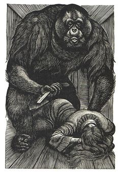 Tales of Edgar Allen Poe, woodcuts by Fritz Eichenberg, published by Random House, 1944.