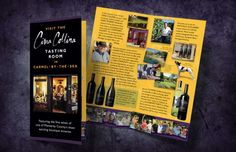 Rack Card, Monterey County, Tasting Room, Fine Wine, Brochure Design, Wines, Books, Cards, Flyer Design