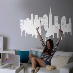 Reserva tu mejor pared para poner este vinilo de la ciudad de Nueva York. Encuentra más vinilos en: www.ubikavinilo.com