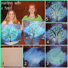 I've seen several of my friends post pictures from their adventures of painting at various bachelorette parties and bridal showers. Beginner Painting, Diy Painting, Painting & Drawing, Family Painting, Painting Tutorials, Painting Techniques, Kunst Party, Wine And Canvas, Paint And Sip
