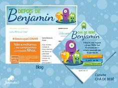 Identidade Visual: Ilustração, blog e convite para chegada de bebê