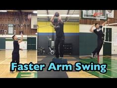 Develop a FASTER ARM SWING - How to SPIKE a Volleyball Tutorial - YouTube