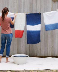 How to dip dye fabrics from Martha Stewart.