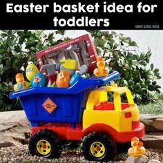 101 easter basket ideas for babies and toddlers that arent candy if i have another child boy construction easter basket idea negle Gallery