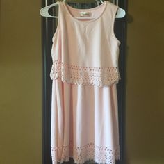 Boutique brand dress Never worn light pink dress! I bought the  because I thought it was cute and turns out I didn't have anything to wear it too! My loss your gain! Dresses