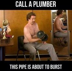 Pipe's about to burst. #gymhumor #fitfam