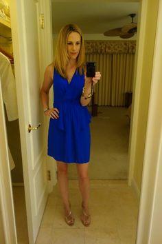 Still loving cobalt!!! Great style dress.