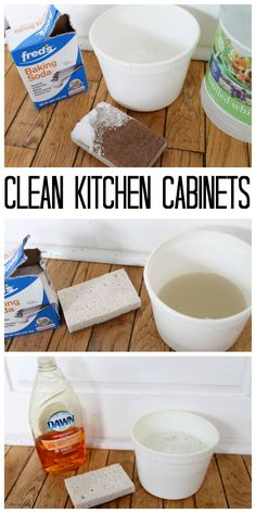 The Best Way to Clean Kitchen Cabinets - great tips and tricks here to clean wit. The Best Way to Clean Kitchen Cabinets - great tips and tricks here to clean with things you have around your home! Deep Cleaning Tips, House Cleaning Tips, Diy Cleaning Products, Cleaning Solutions, Cleaning Hacks, Spring Cleaning Tips, Cleaning Grease, Cleaning Blinds, Cleaning Supplies