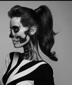 Sultry Skeletal-Faced Shoots : 'She Has Waited Too Long' Series by Pauline Darley Makeup by Mademoiselle Mu