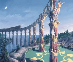 25 Mind-Twisting Optical Illusion Paintings By Rob Gonsalves | Bored Panda