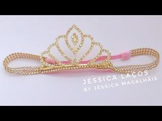 Bead Embroidery Tutorial, Beaded Embroidery, Pearl Headband, Diy Hair Bows, Hair Ornaments, Baby Headbands, Diy Hairstyles, Handmade Crafts, Gold Rings