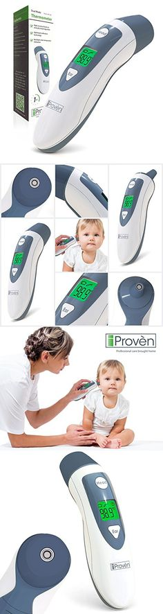 Baby Ear Thermometer with Forehead Function - iProven DMT-489 Gray - Upgraded Infrared Lens Technology for Better Accuracy