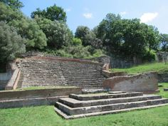 In antiquity the century Odeon at Apollonia, Albania, seated 650 persons and was covered by a roof. Albania, Palermo, Stepping Stones, Coastal, Antiques, Outdoor Decor, Antiquities, Antique