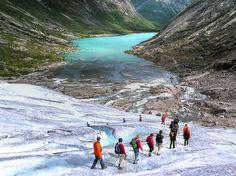 Blue ice adventure. Glacier Hiking, Jostedal  Glacier National Park