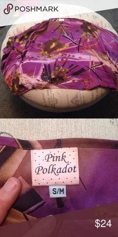 Purple print dressy poncho size S/M Never worn purple print poncho size S/M sku 461 Tops