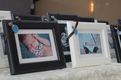 baptism reception baby boy christening. I love the photo frame giveaways, very Jared (who just loves to be photograped always)