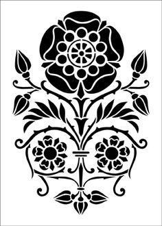 Motif No 44 stencil from The Stencil Library ARTS AND CRAFTS range. Buy stencils online. Stencil code DE152.