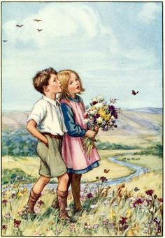 New Ideas Flowers Illustration Drawing Cicely Mary Barker Art And Illustration, Antique Illustration, Illustration Children, Book Illustrations, Cicely Mary Barker, Vintage Children's Books, Vintage Art, Vintage Drawing, Fairy Tales For Kids