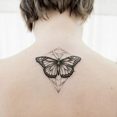dot line tattoo butterfly - Google Search